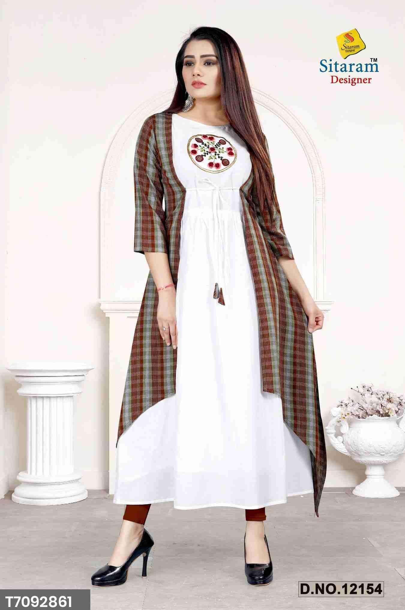 Sitaram Designer Rayon Cotton Primium Kurtis