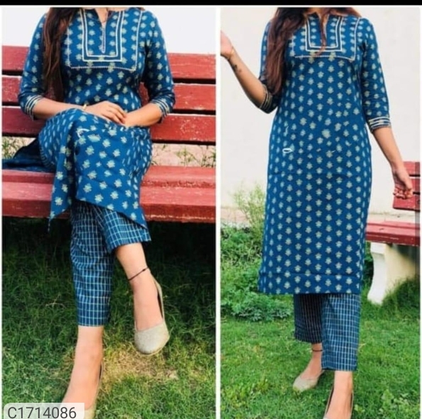Gorgeous Printed Rayon Kurti Pant Sets