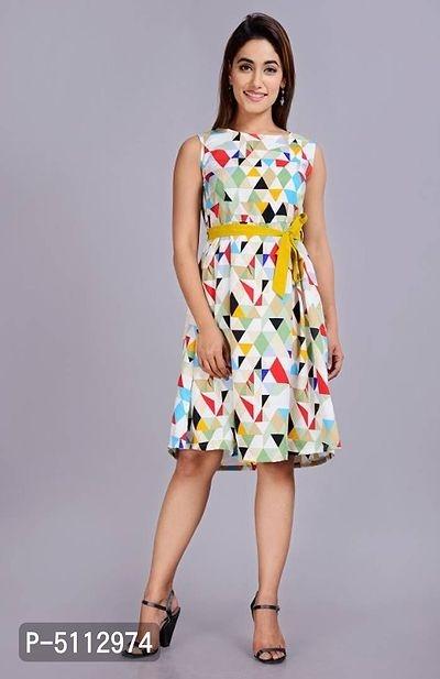 Women A-line Multicolor Dress