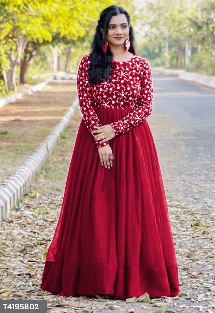 Trisha Amazing Wine Colour Womes's Gown