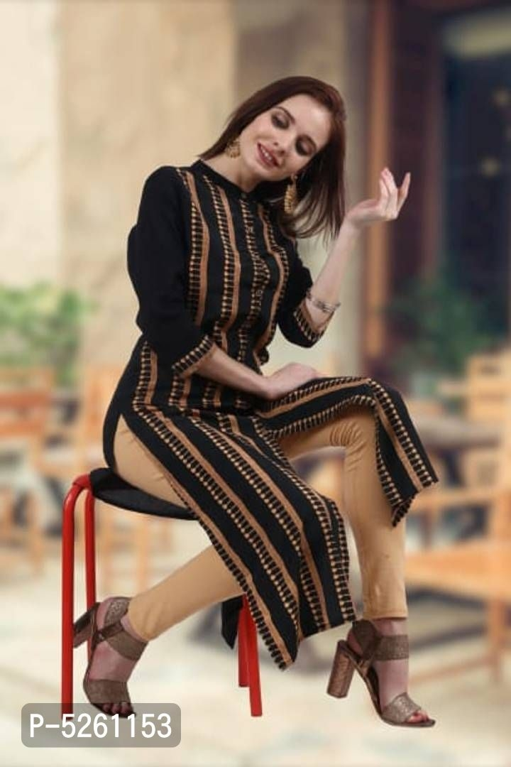 Branded designer women Rayon Long Length Kurtas for your personality.